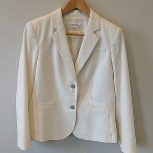 Calvin Klein ivory suit jacket 10